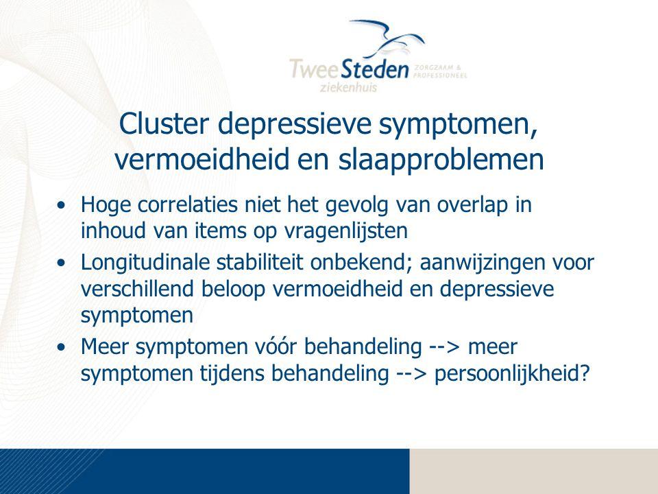 Cluster depressieve symptomen, vermoeidheid en slaapproblemen