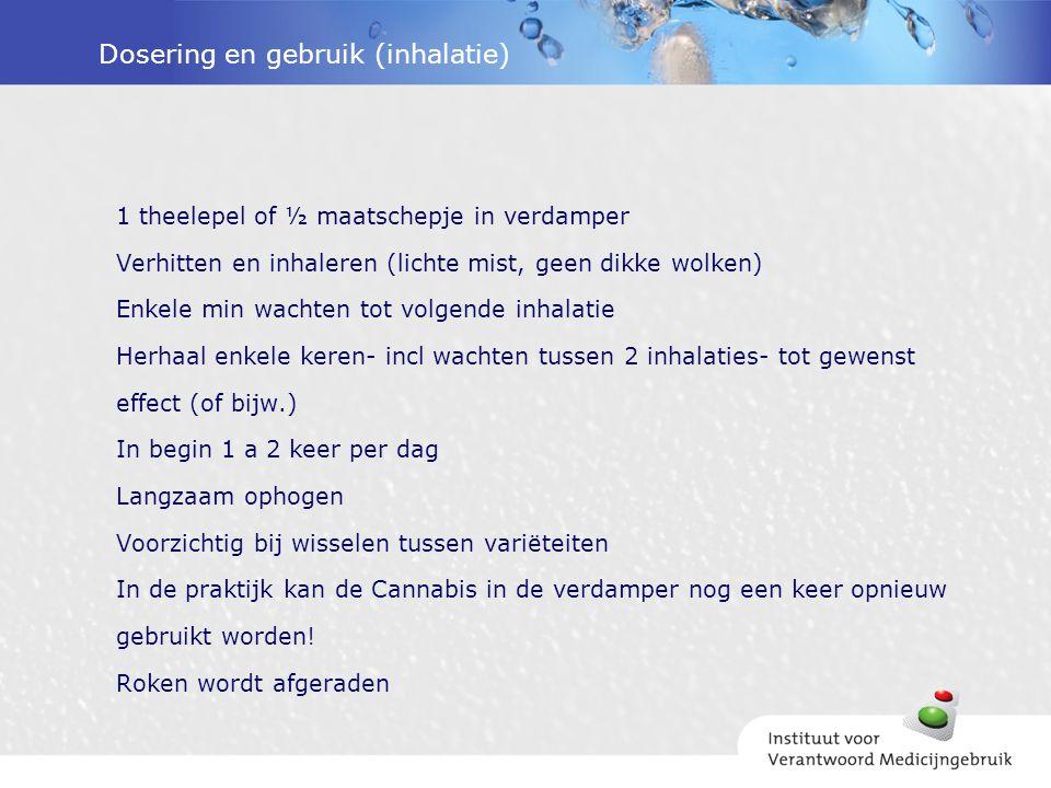 Dosering en gebruik (inhalatie)