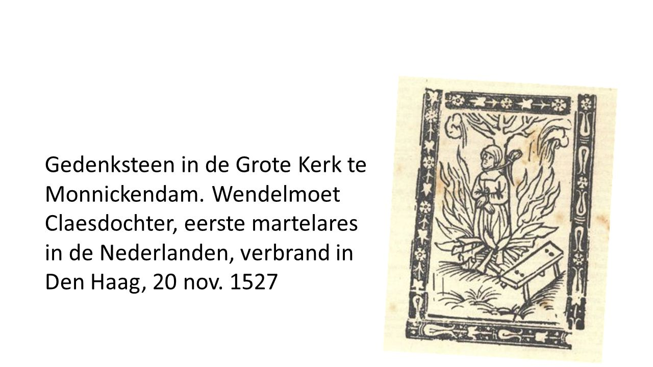 Gedenksteen in de Grote Kerk te Monnickendam