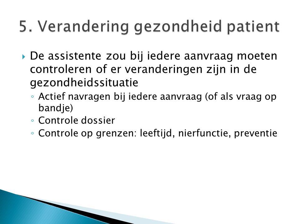 5. Verandering gezondheid patient