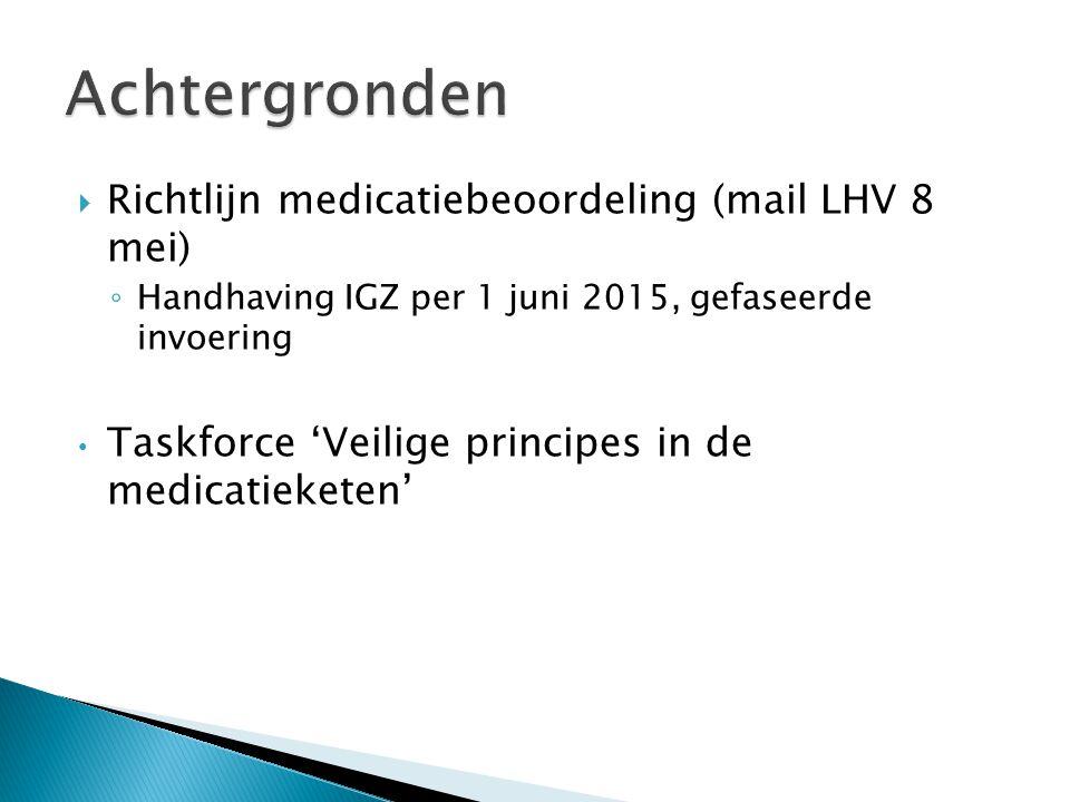 Achtergronden Richtlijn medicatiebeoordeling (mail LHV 8 mei)