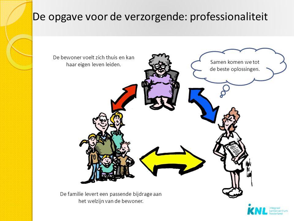 De opgave voor de verzorgende: professionaliteit