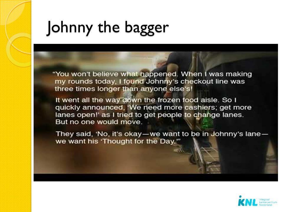 Johnny the bagger