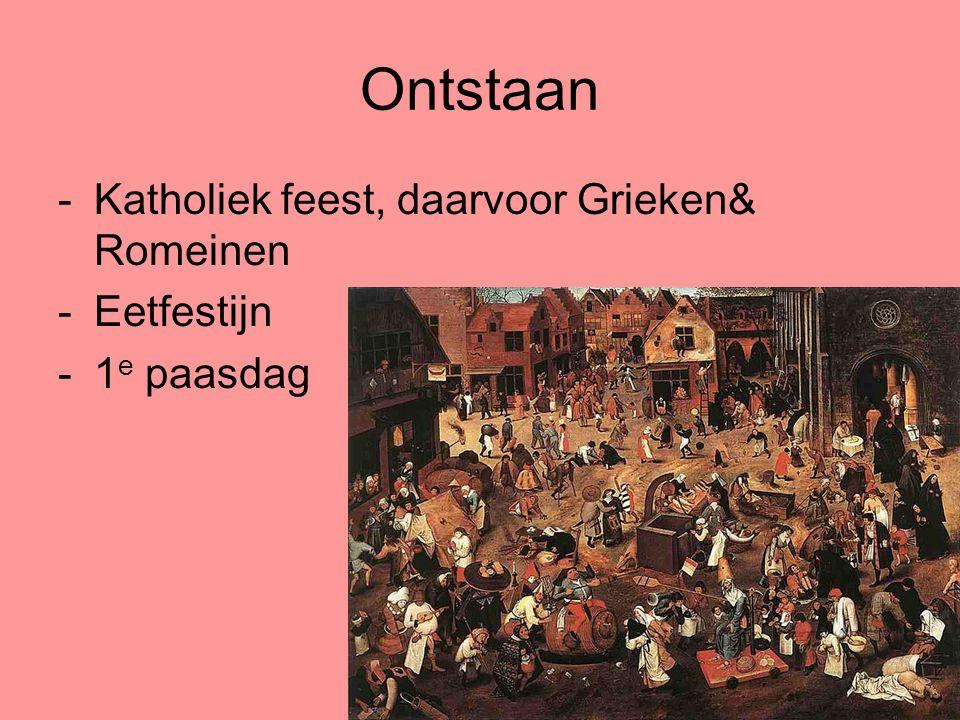 Ontstaan Katholiek feest, daarvoor Grieken& Romeinen Eetfestijn