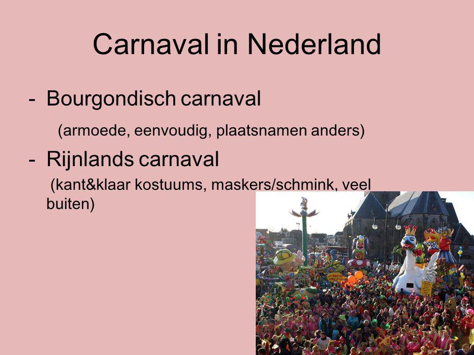 Carnaval in Nederland Bourgondisch carnaval