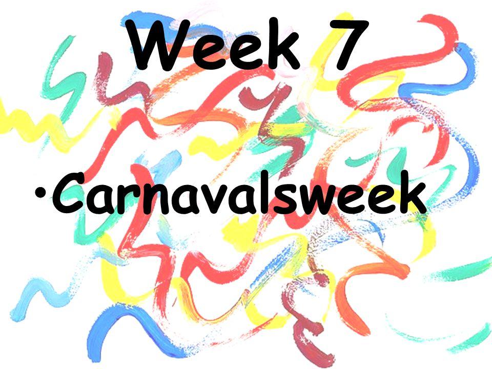 Week 7 Carnavalsweek