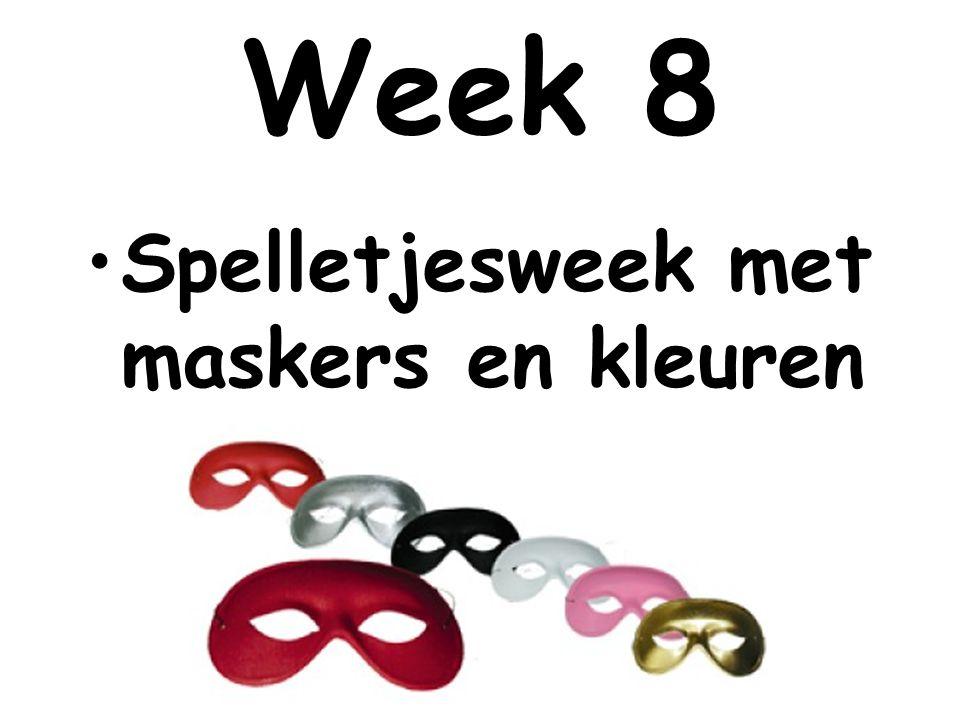 Spelletjesweek met maskers en kleuren