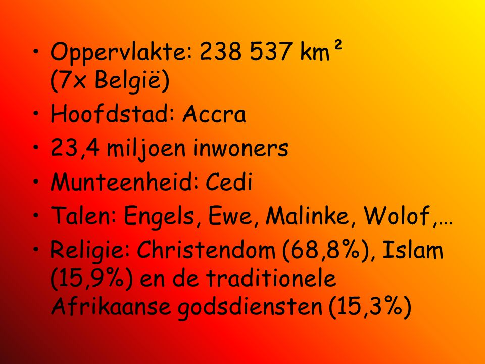 Oppervlakte: 238 537 km² (7x België)