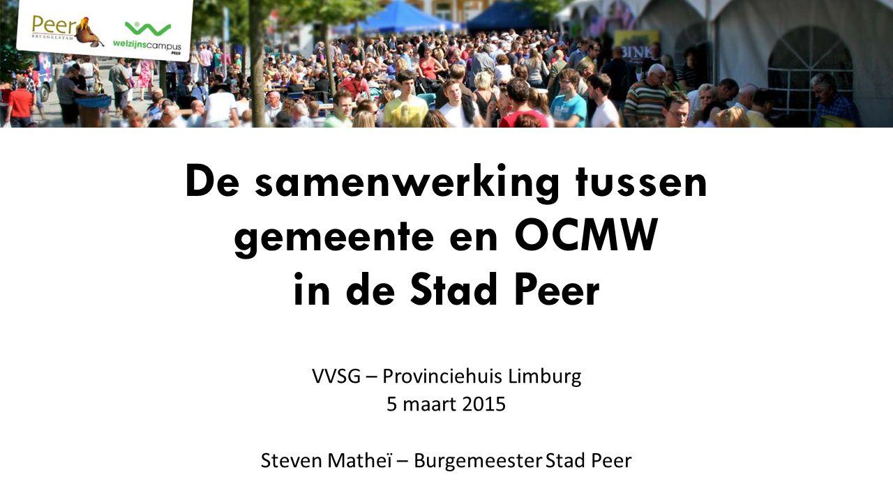 De samenwerking tussen gemeente en OCMW in de Stad Peer