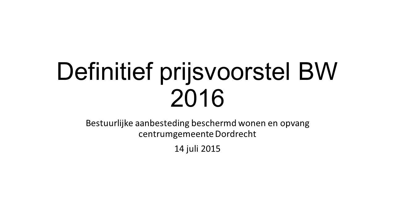 Definitief prijsvoorstel BW 2016