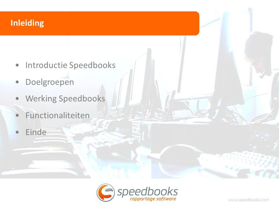 Introductie Speedbooks Doelgroepen Werking Speedbooks