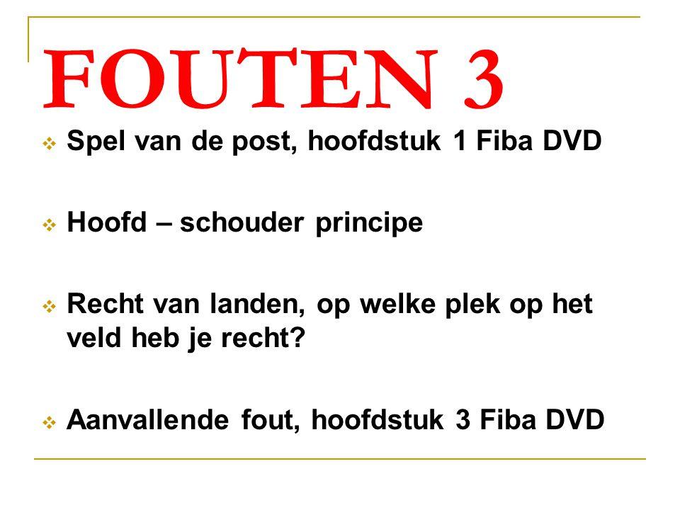 FOUTEN 3 Spel van de post, hoofdstuk 1 Fiba DVD