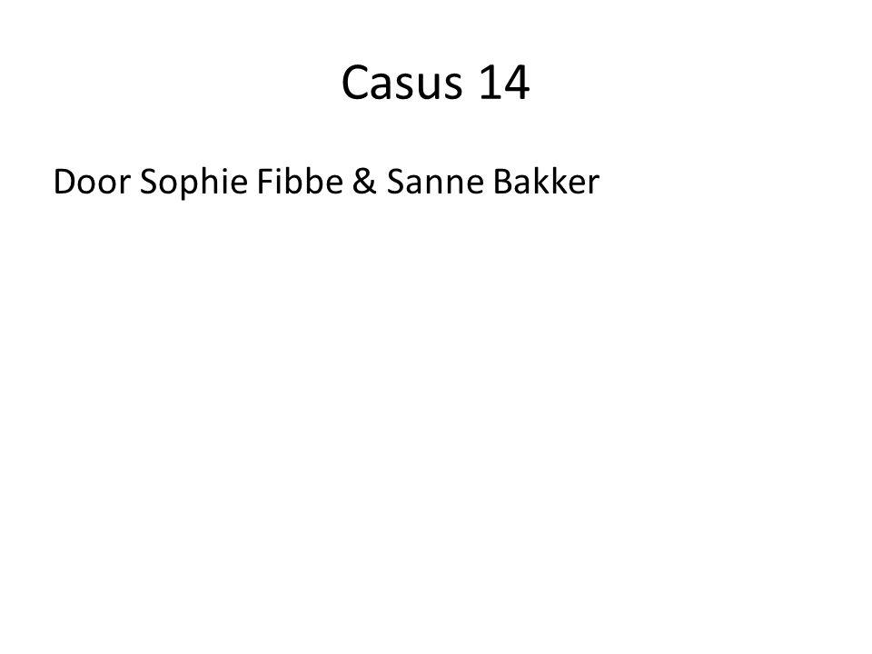 Casus 14 Door Sophie Fibbe & Sanne Bakker