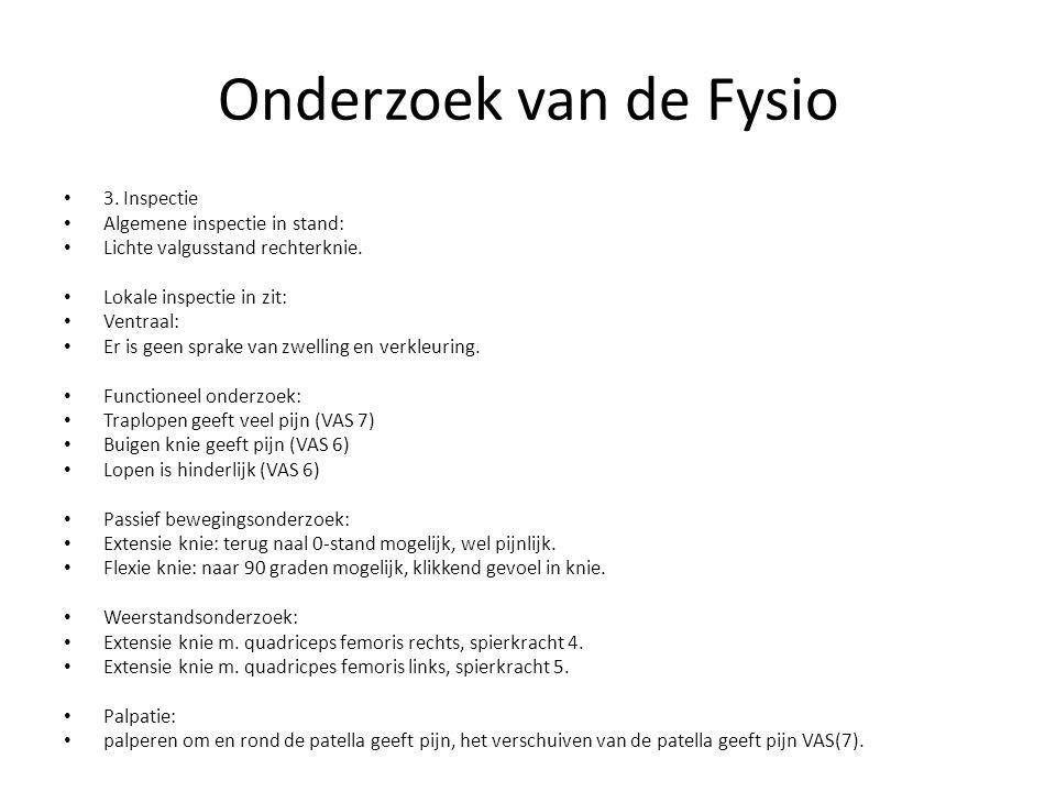 Onderzoek van de Fysio 3. Inspectie Algemene inspectie in stand: