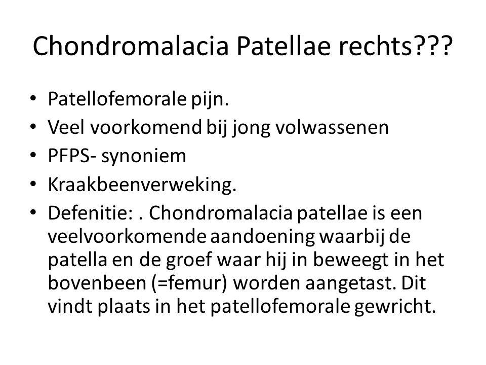 Chondromalacia Patellae rechts