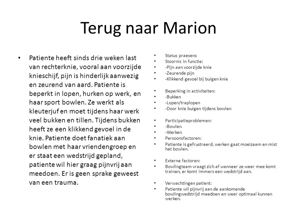 Terug naar Marion
