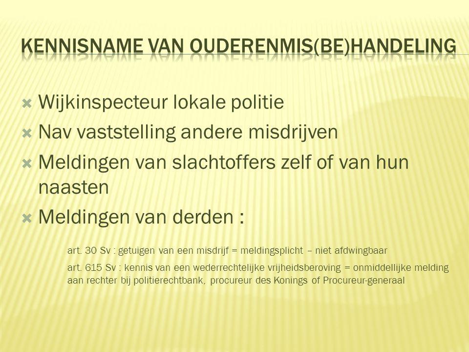 KENNISNAME VAN OUDERENMIS(BE)HANDELING