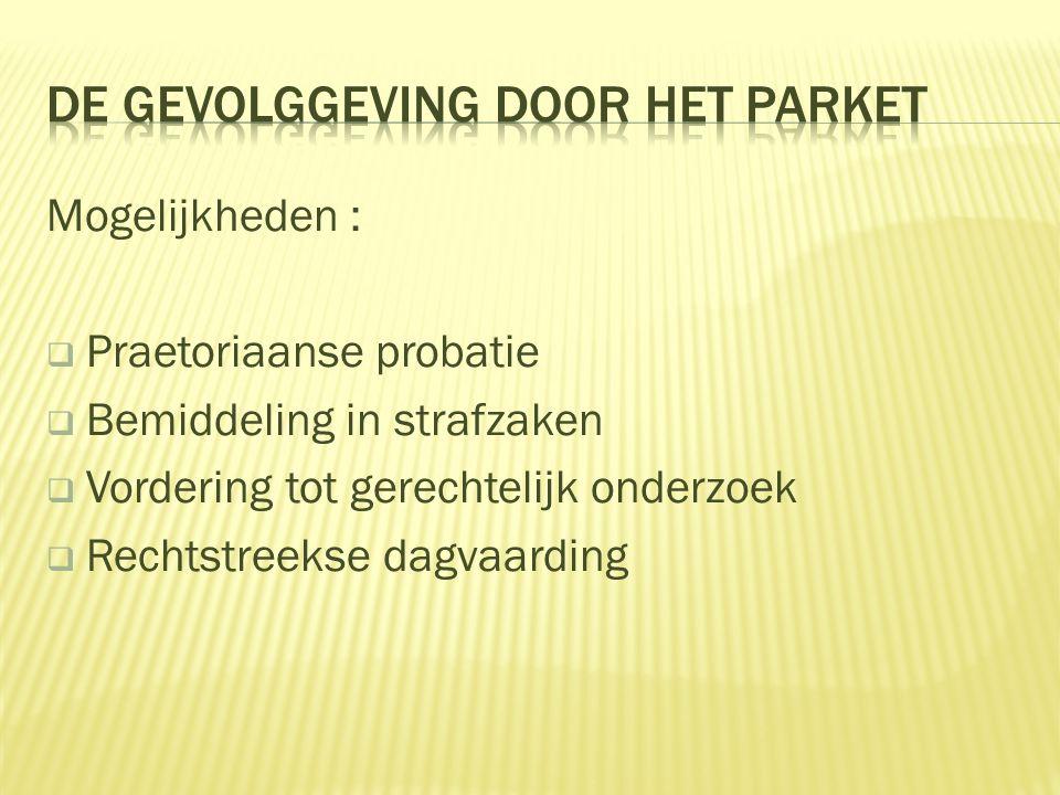 DE GEVOLGGEVING DOOR HET PARKET