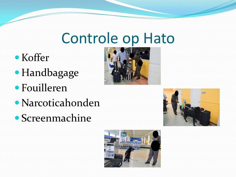 Controle op Hato Koffer Handbagage Fouilleren Narcoticahonden