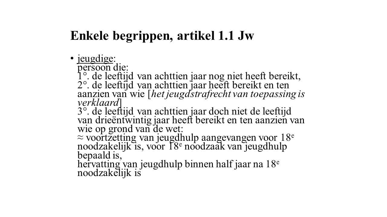 Enkele begrippen, artikel 1.1 Jw