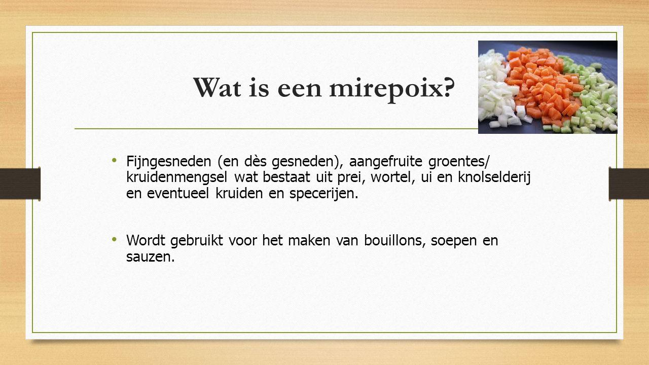 Wat is een mirepoix