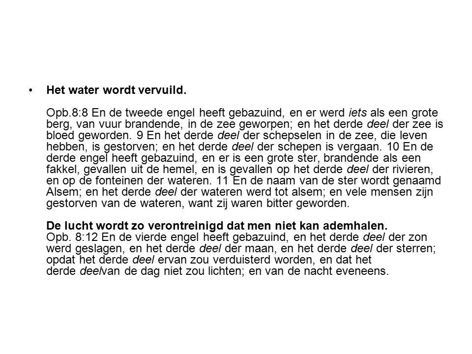 Het water wordt vervuild. Opb
