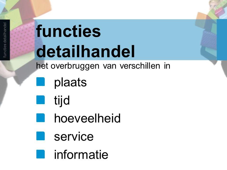 functies detailhandel
