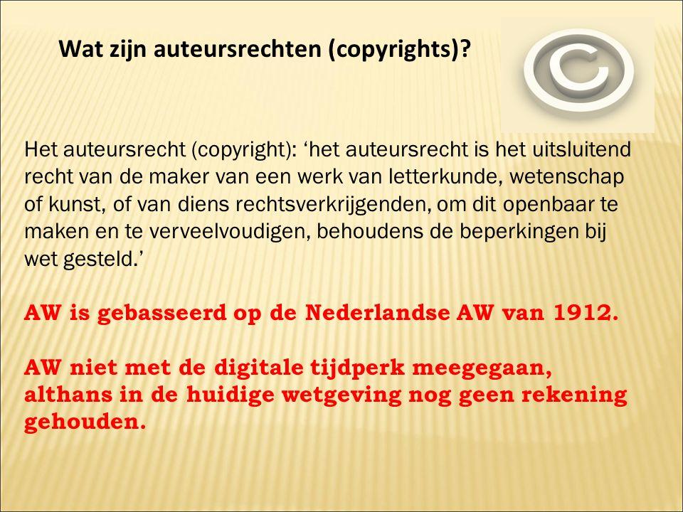 Wat zijn auteursrechten (copyrights)