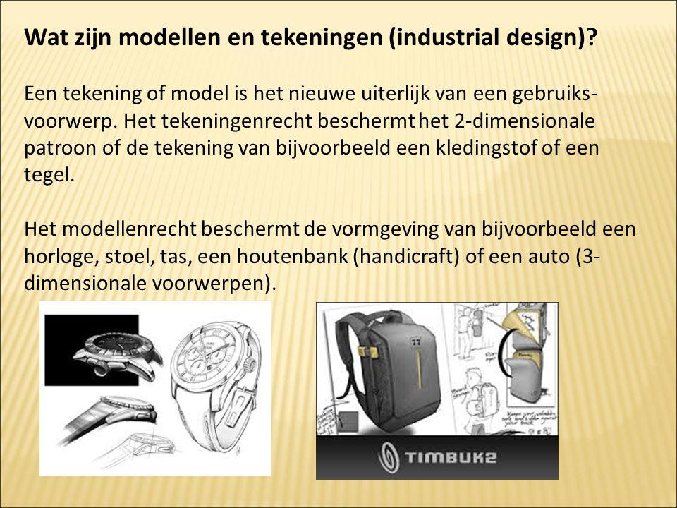 Wat zijn modellen en tekeningen (industrial design)