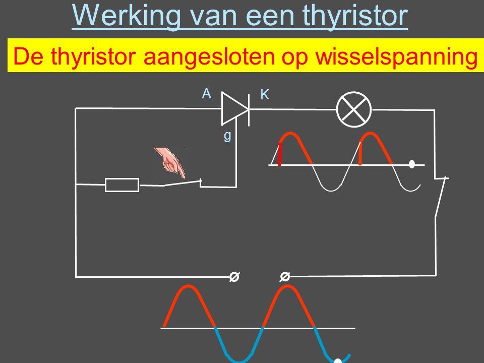 Werking van een thyristor