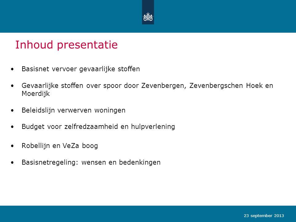 Inhoud presentatie Basisnet vervoer gevaarlijke stoffen