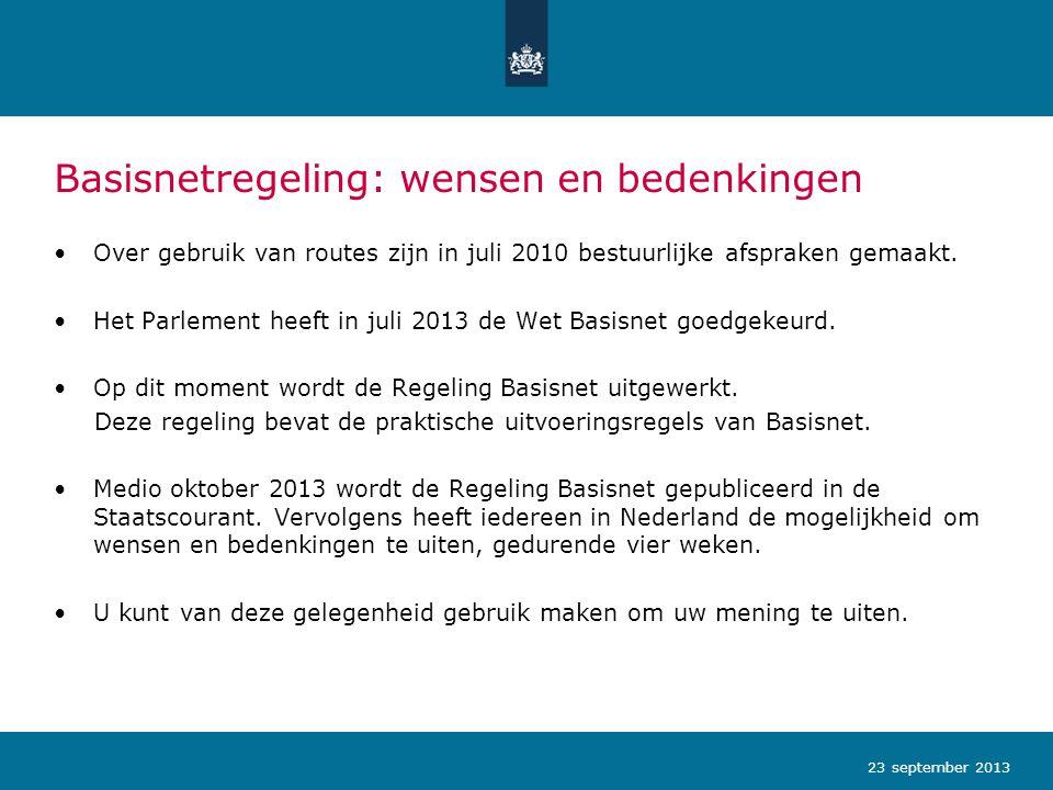 Basisnetregeling: wensen en bedenkingen