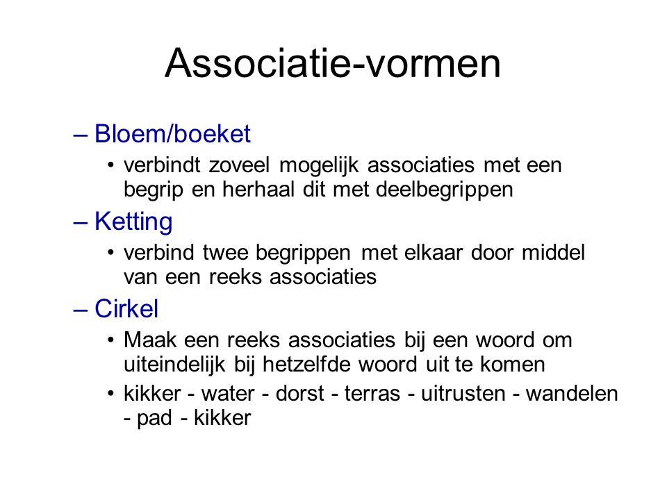 Associatie-vormen Bloem/boeket Ketting Cirkel