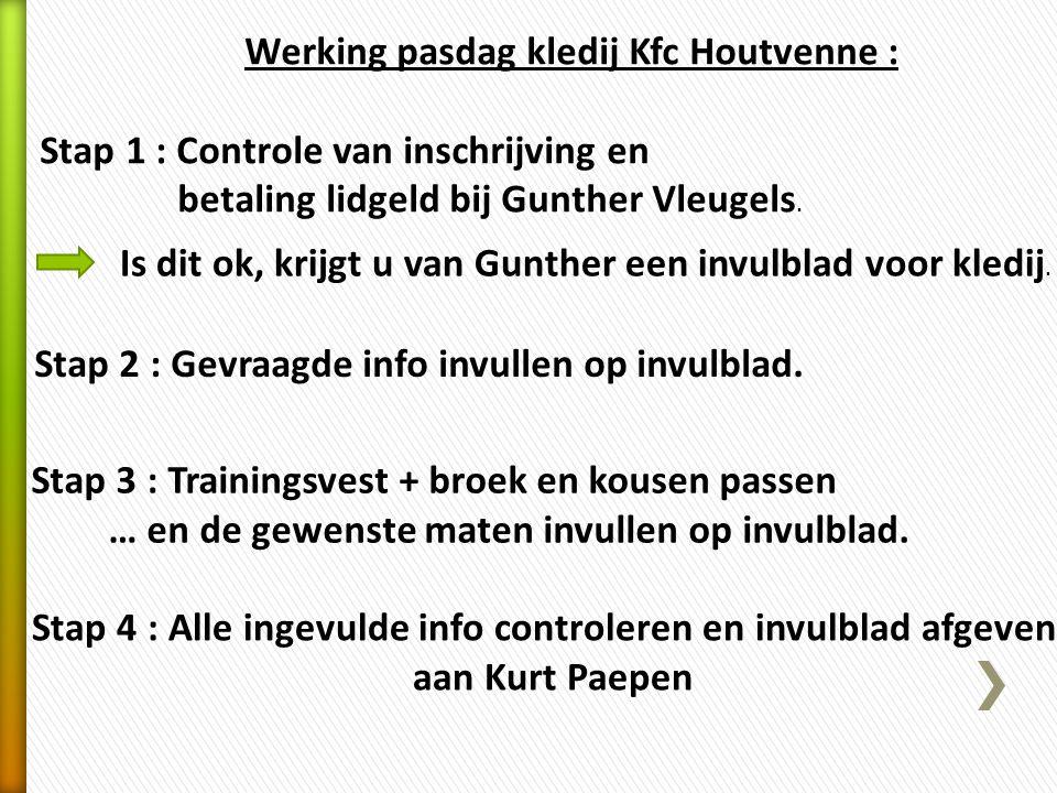 Werking pasdag kledij Kfc Houtvenne :