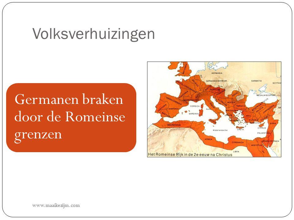 Volksverhuizingen Germanen braken door de Romeinse grenzen