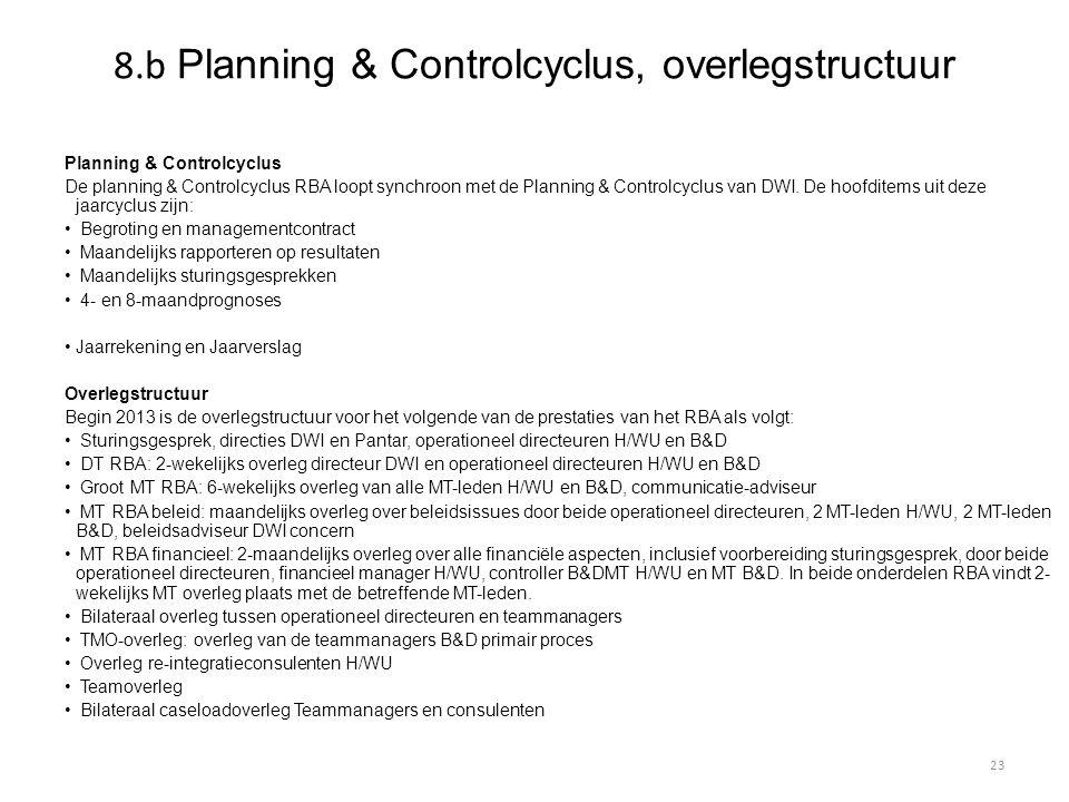 8.b Planning & Controlcyclus, overlegstructuur