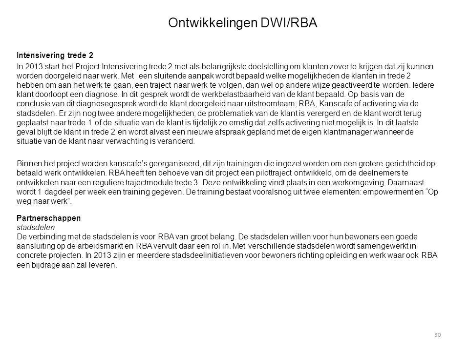 Ontwikkelingen DWI/RBA