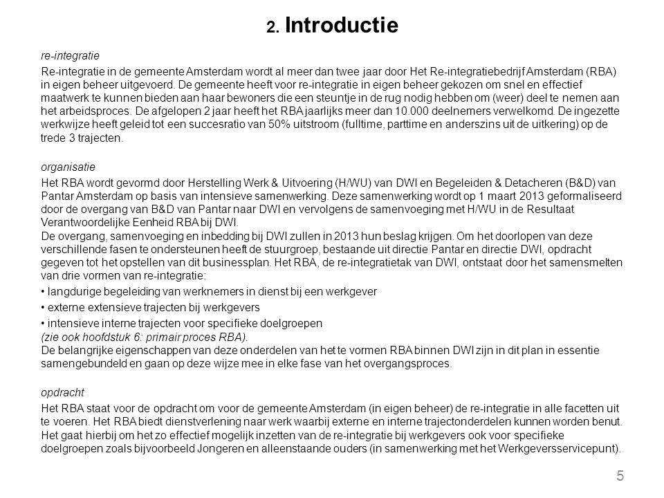 2. Introductie re-integratie