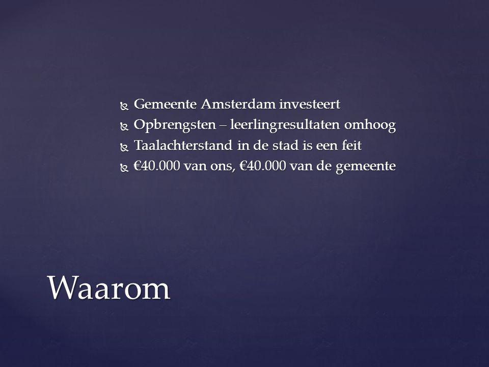 Waarom Gemeente Amsterdam investeert
