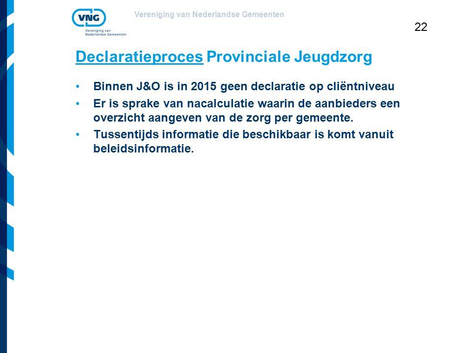 Declaratieproces Provinciale Jeugdzorg
