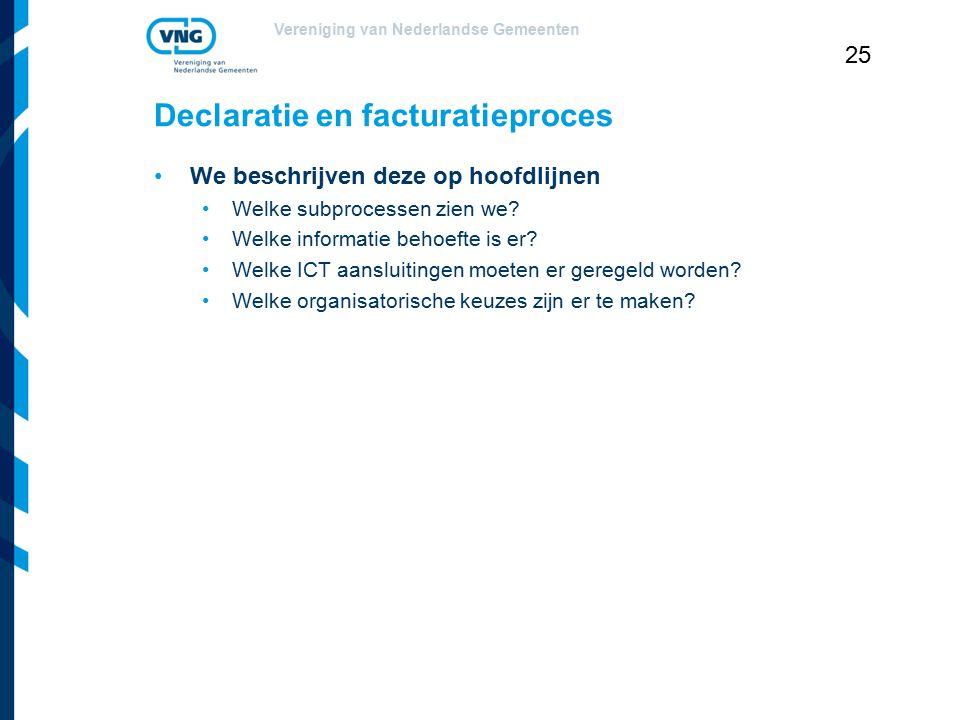Declaratie en facturatieproces