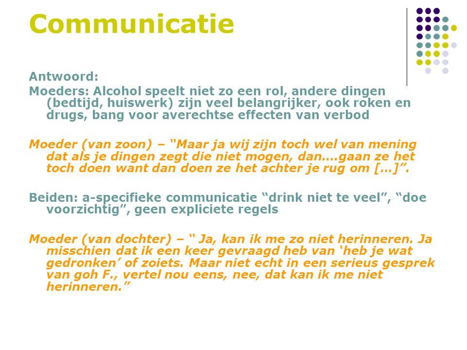 Communicatie Antwoord: