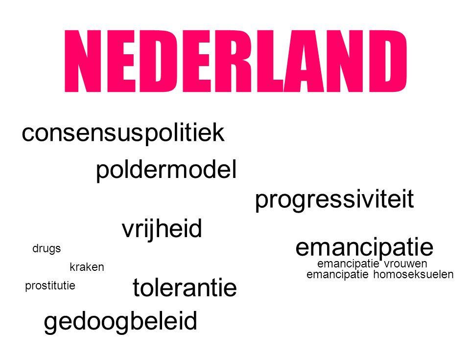 NEDERLAND consensuspolitiek poldermodel progressiviteit vrijheid