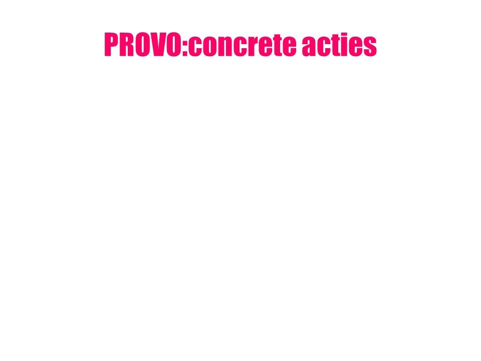 PROVO:concrete acties