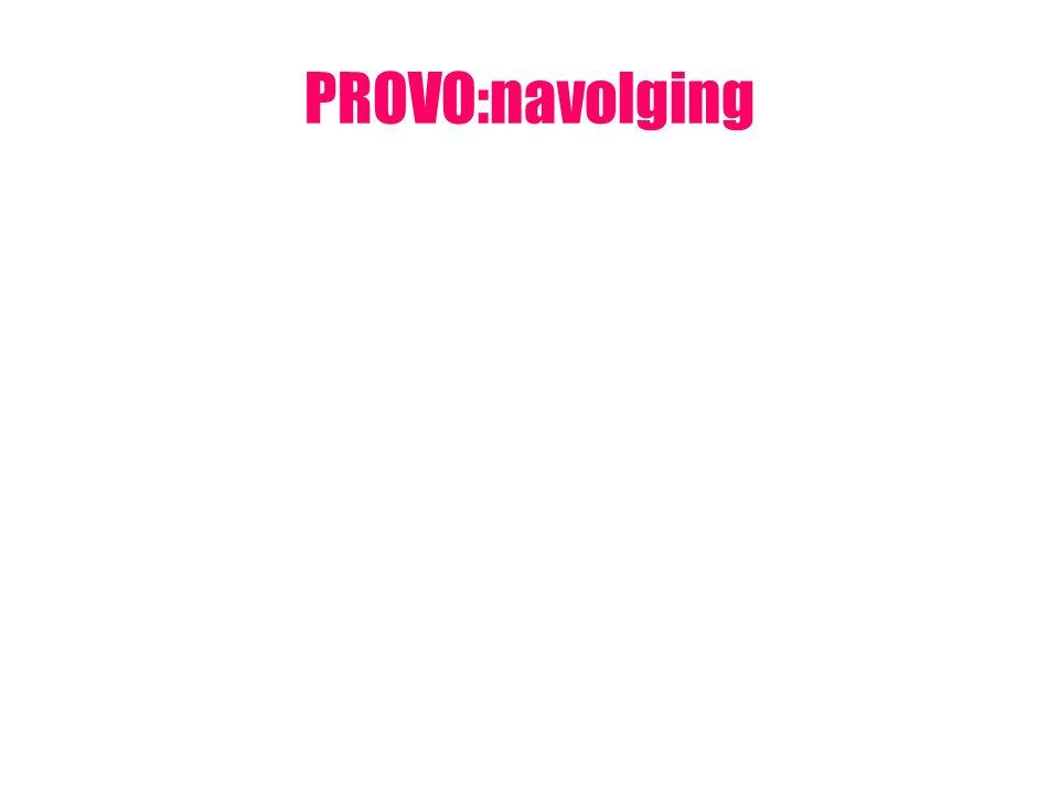 PROVO:navolging
