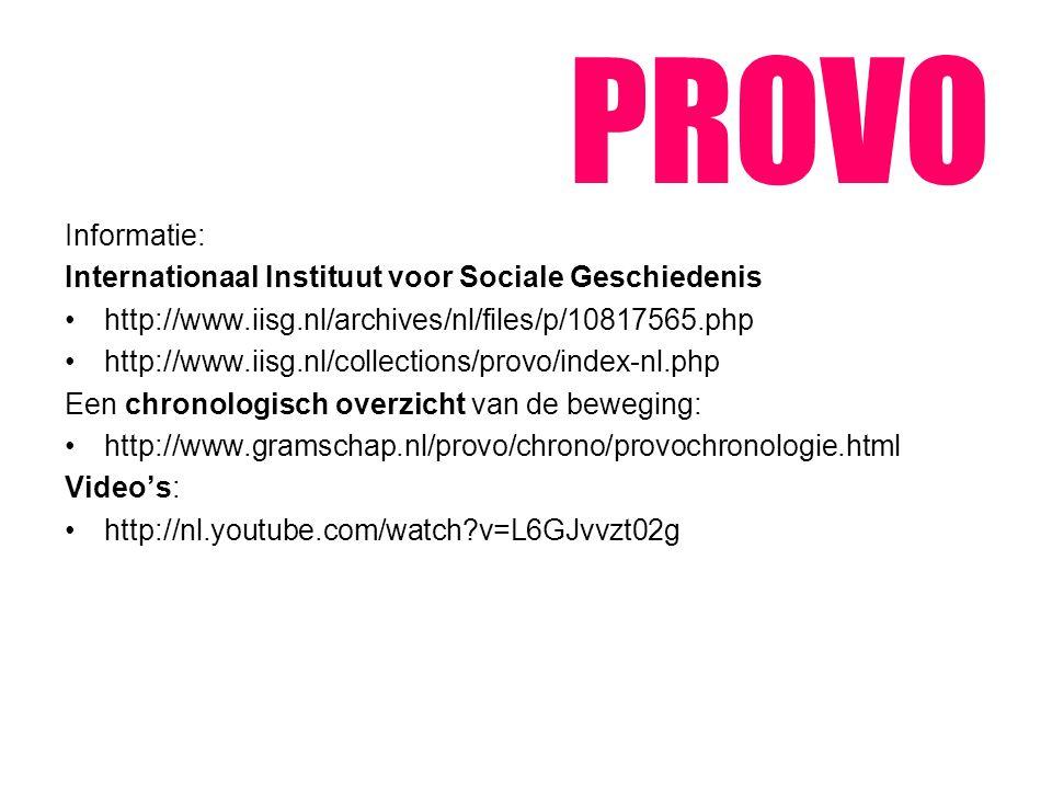 PROVO Informatie: Internationaal Instituut voor Sociale Geschiedenis