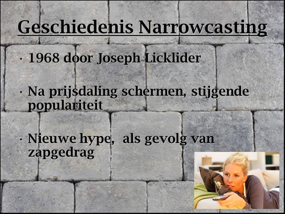 Geschiedenis Narrowcasting