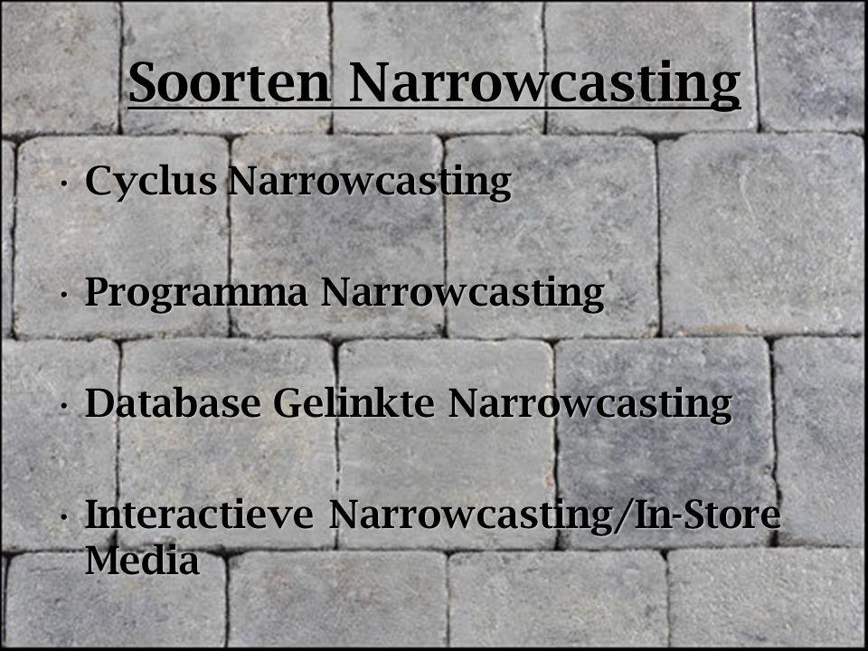 Soorten Narrowcasting