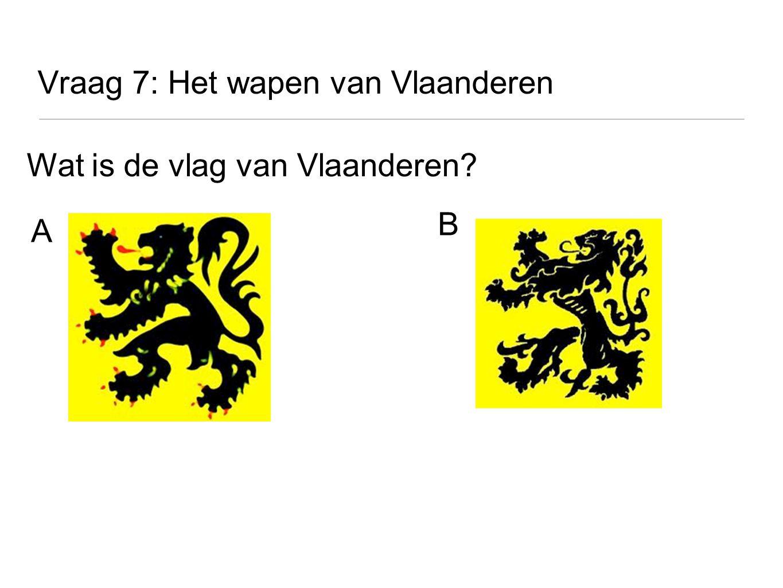 Vraag 7: Het wapen van Vlaanderen