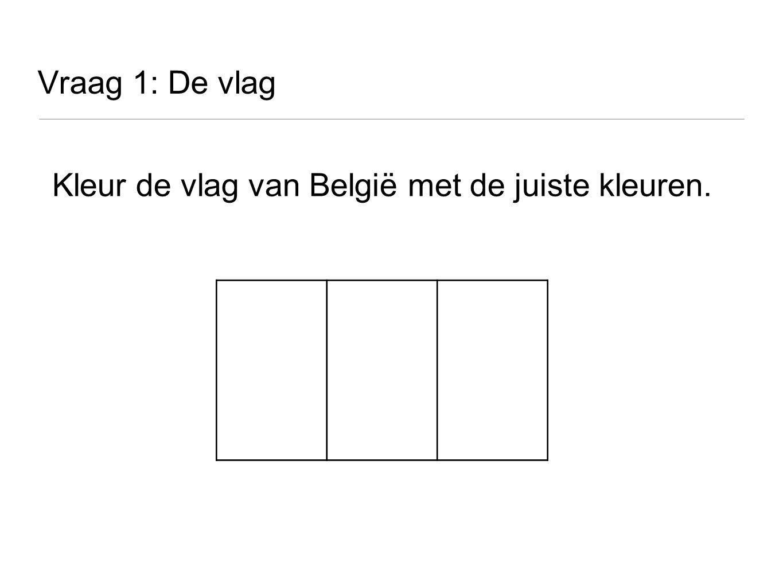 Kleur de vlag van België met de juiste kleuren.